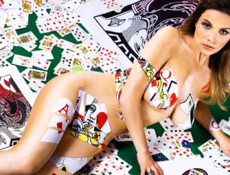 Tatjana Pasalic is nude, covered with poker cards and she is, HOT!